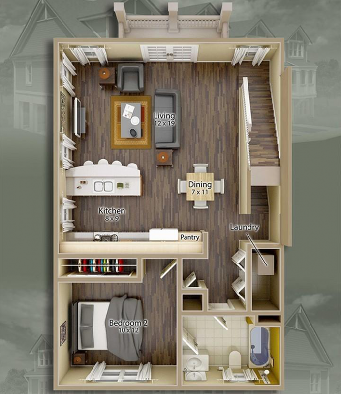 Jacksons Commons Floor Plan: 4x4 First Floor