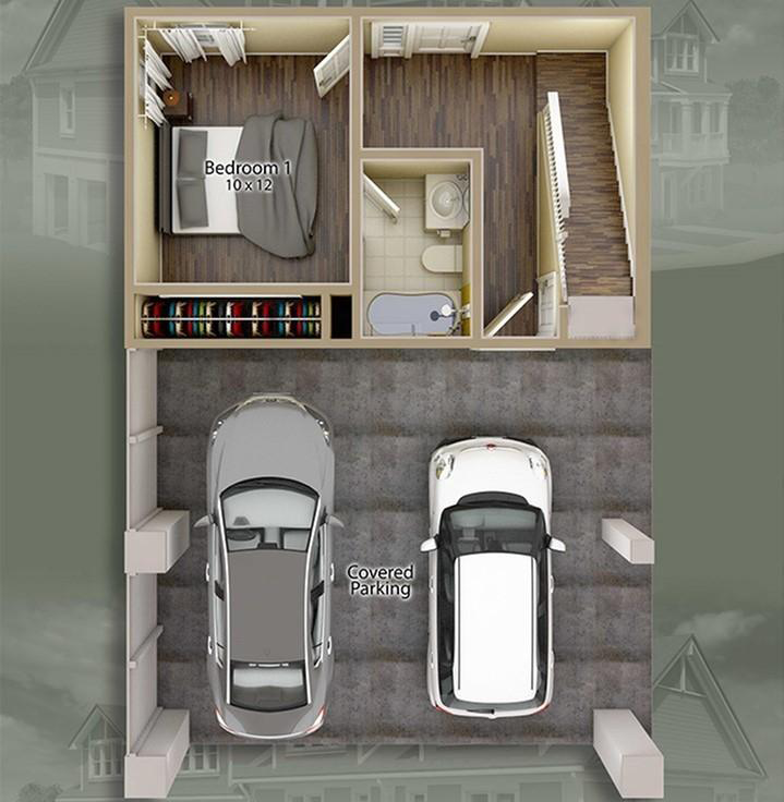 Jacksons Commons Floor Plan: 4x4 Ground Floor